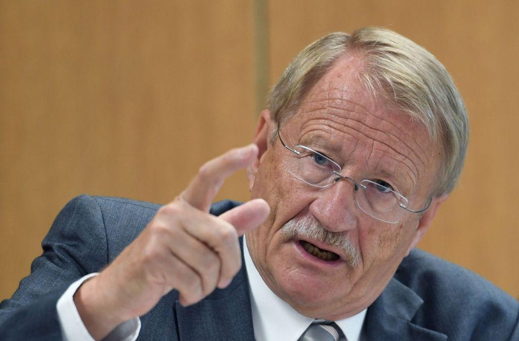 Wolfgang Drexler fand in seiner Abschiedsrede deutliche Worte zur AfD. Foto: dpa