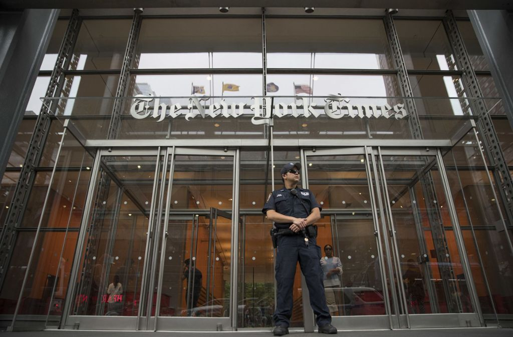 """Der Sitz der """"New York Times"""" Foto: AP/Mary Altaffer"""