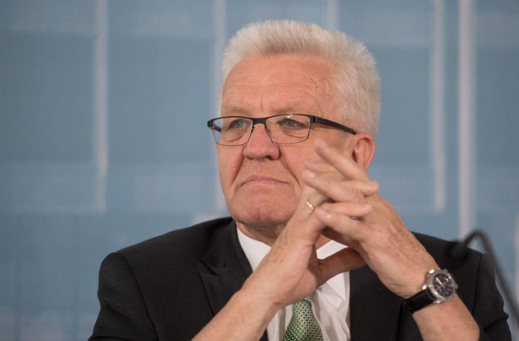 Winfried Kretschmann macht sich für eine Pflichtversicherung gegen Elementarschäden stark. Foto: dpa