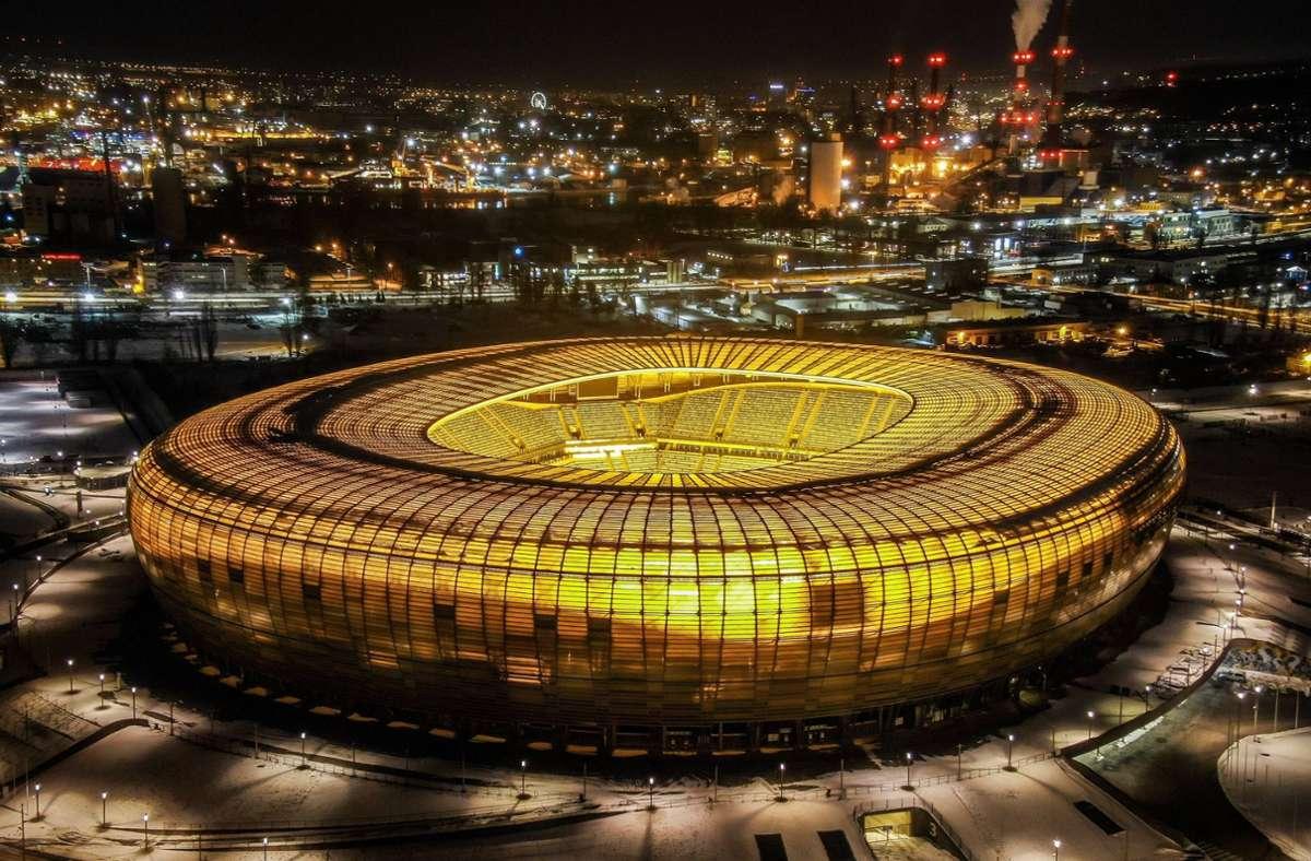 Fast 10.000 Zuschauer können das  Finale der Europa League in Danzig verfolgen. Foto: imago images/Eastnews/Karolina Misztal/REPORTER