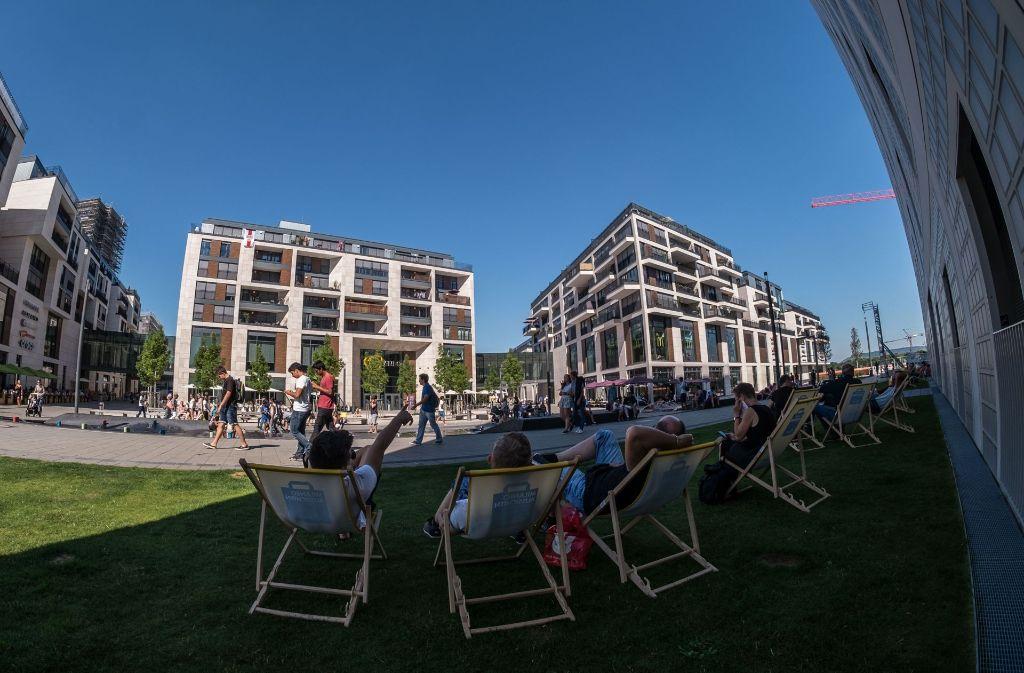 Die Mittagspause im Liegestuhl genießen wie hier am Milaneo – das ist in dieser Woche durchaus eine Option. (Archivfoto) Foto: Max Kovalenko