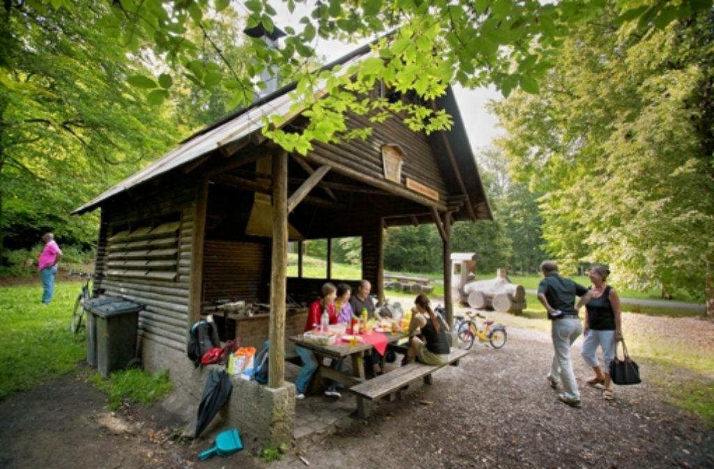 Die Grillhütte Glemsbrunnen eignet sich auch für größere Gruppen. Foto: Michael   Steinert