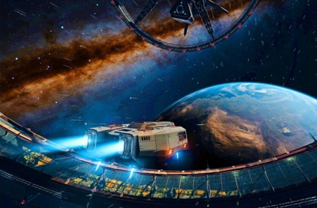 """Galaktische Jagd:  eine Szene aus dem Spiel """"Elite: Dangerous"""". Foto: Frontier"""