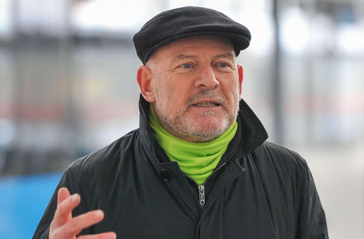 Verkehrsminister Winfried Hermann (Grüne) wird in der Ökofraktion im Rathaus über den Ergänzungsbahnhof zum Projekt Stuttgart 21 sprechen. Foto: Lichtgut/Max Kovalenko
