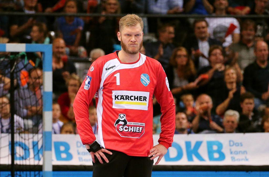 Auch eine starke Vorstellung von Torhüter Johannes Bitter reicht dem TVB in Flensburg zu nichts Zählbarem Foto: Baumann
