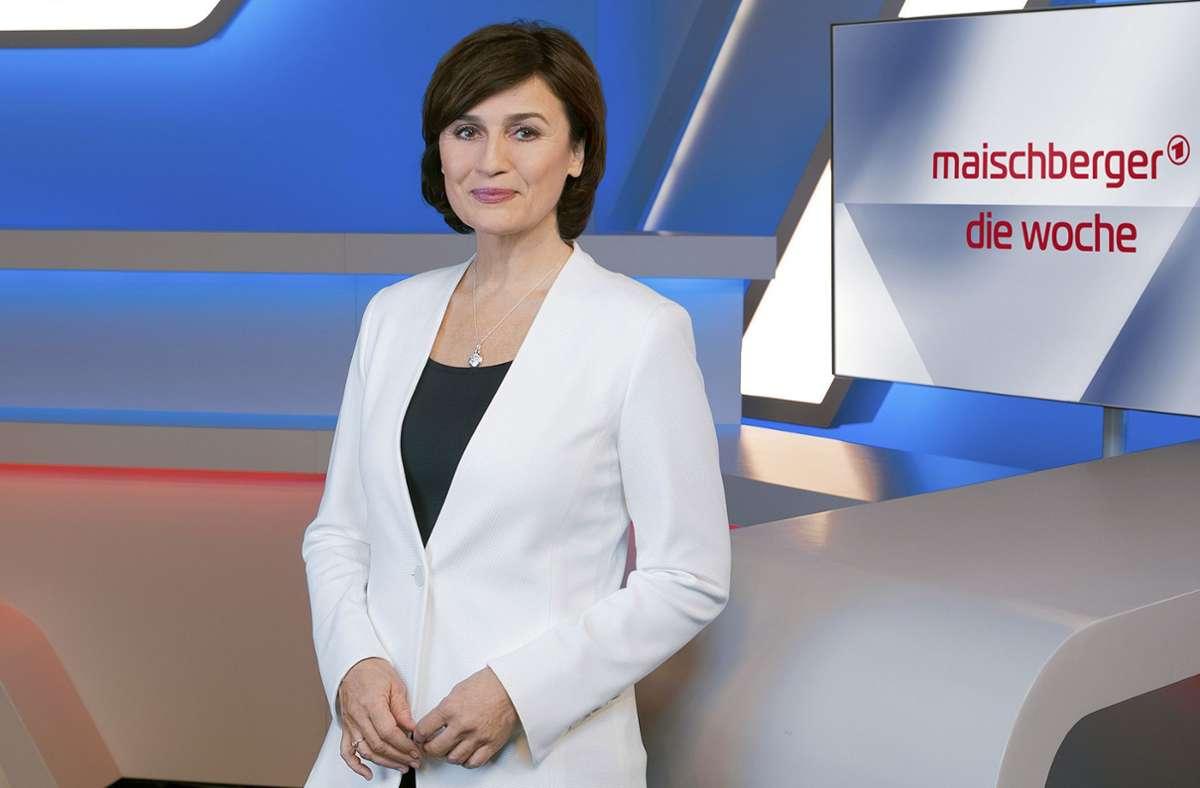 Sandra Maischberger wäre wohl auch eine gute Staatsanwältin geworden. Foto: WDR/Markus Tedeskino
