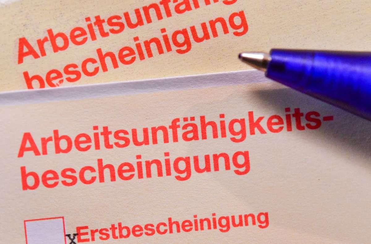 """Hier das Amtsdeutsch. Die Hauptform ist """"Krankschreibung"""". Foto: dpa/Patrick Pleul"""