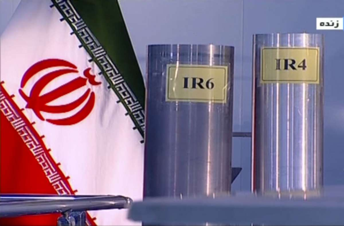 Drei Zentrifugen in der Atomanlage Natanz, einer iranischen kerntechnische Anlage zur Anreicherung von Uran aus dem Jahr 2019. Foto: Islamic Republic Iran Broadcas