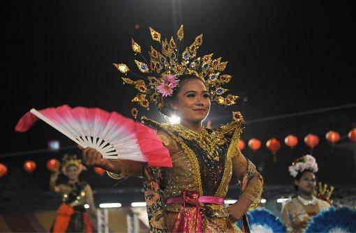 Thailand feiert das Löwentanz-Festival