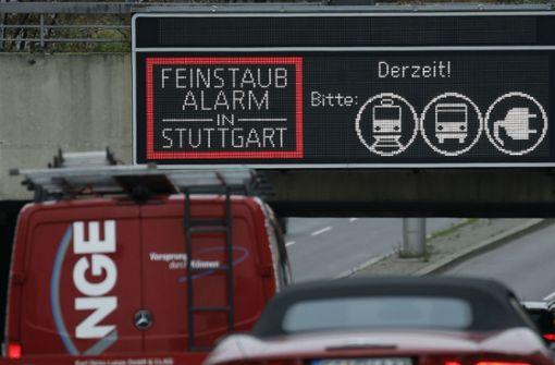Längerer Feinstaubalarm in Stuttgart möglich