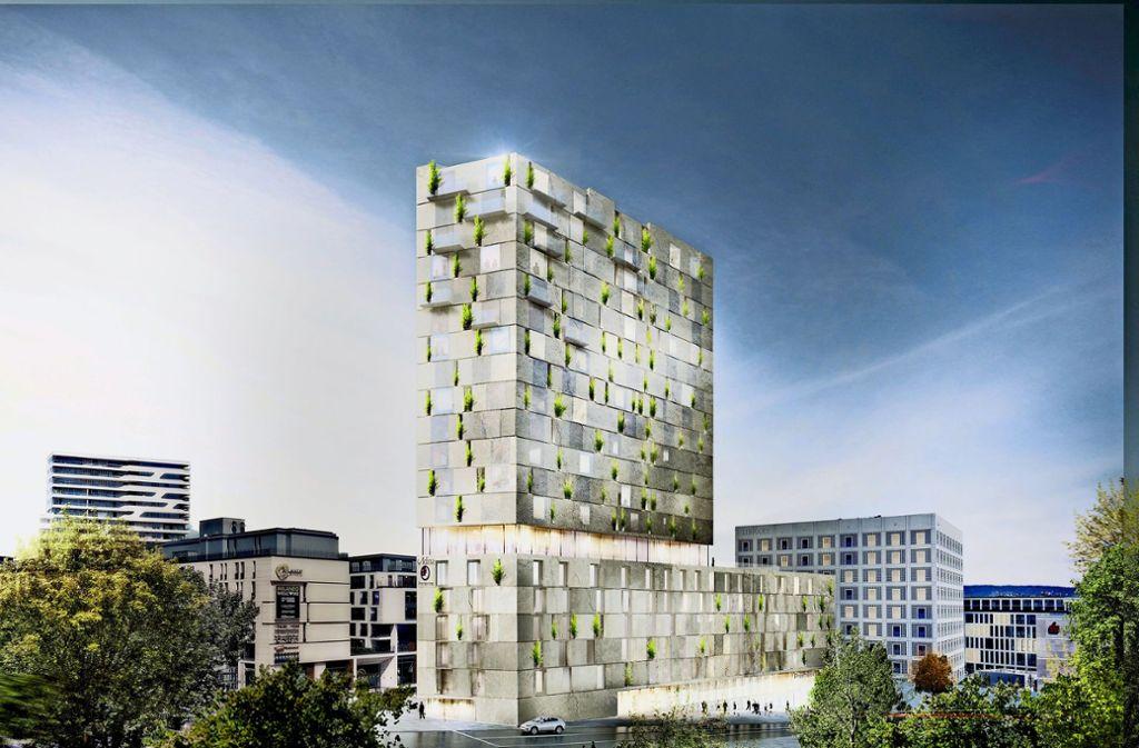 Der   Wettbewerbsentwurf  gilt als  erledigt, ein neues Arbeitsmodell liegt für das Projekt an der Heilbronner Straße vor. Foto: RKW Architektur +