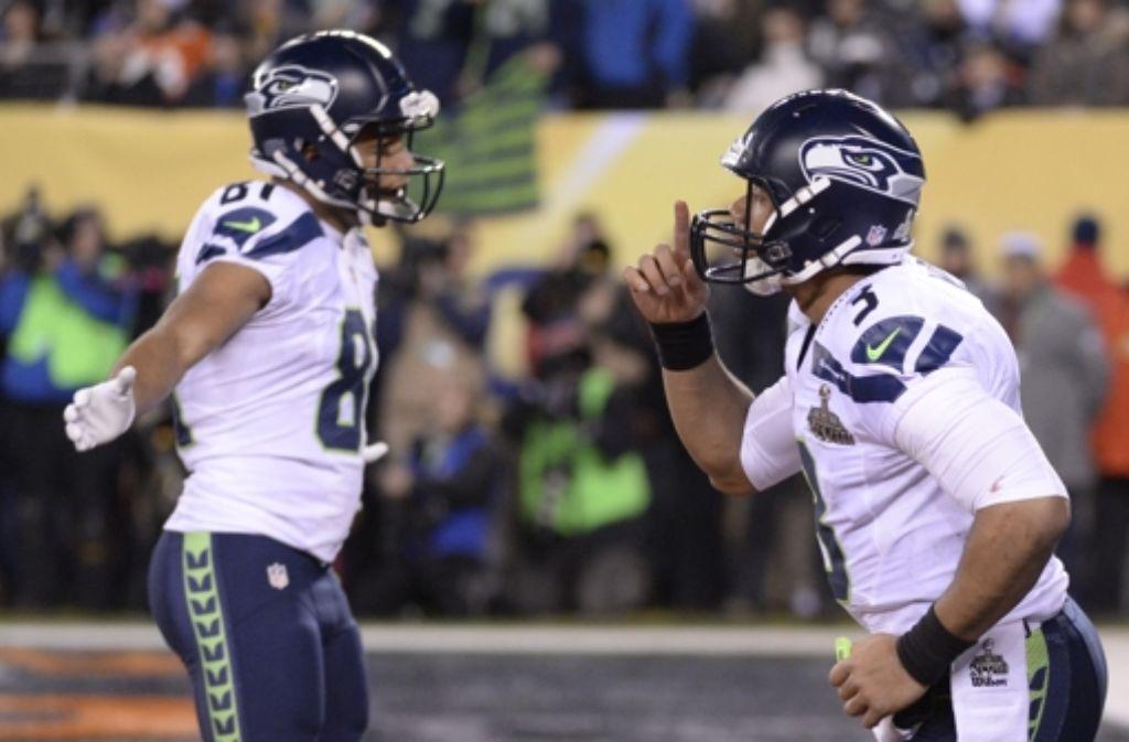 Die Footballer aus Seattle haben allen Grund zur Freude. Foto: AFP