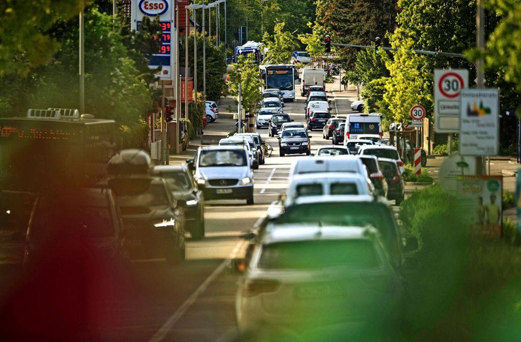 Durch Hegnach  rollt offenbar kein nennenswerter Schleichverkehr.. Foto:
