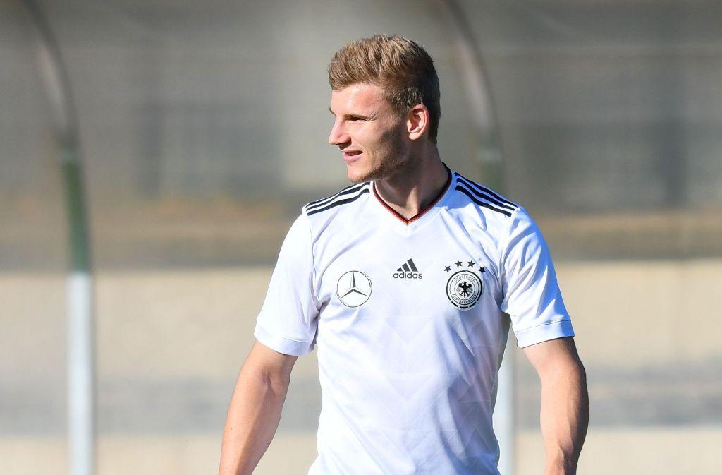 Timo Werner kehrt am Montag in die Mercedes-Benz Arena nach Stuttgart zurück. Foto: dpa