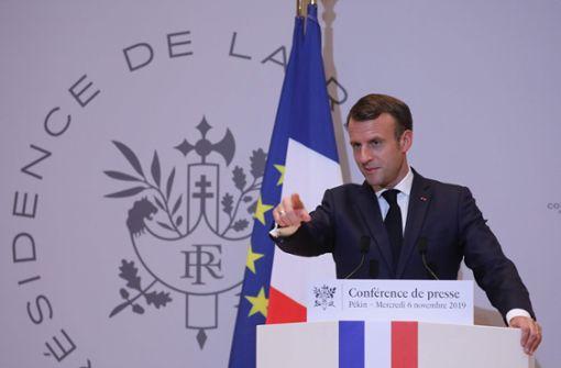 """Frankreichs Präsident bescheinigt der Nato den """"Hirntod"""""""