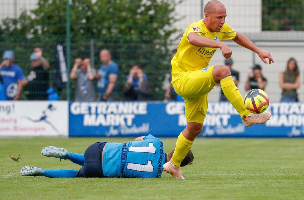 Lukas Kling zeigte gegen Bissingen eine starke Leistung. Foto: Pressefoto Baumann