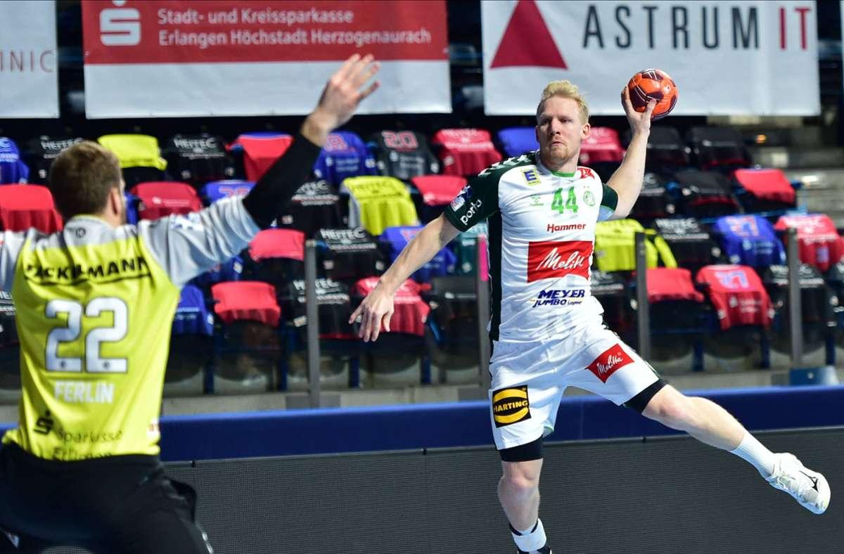 Einer der besten Tempogegenstoß-Spieler der Bundesliga: Der norwegische Nationalspieler Kevin Gulliksen von GWD Minden. Foto: imago//Oliver Gold