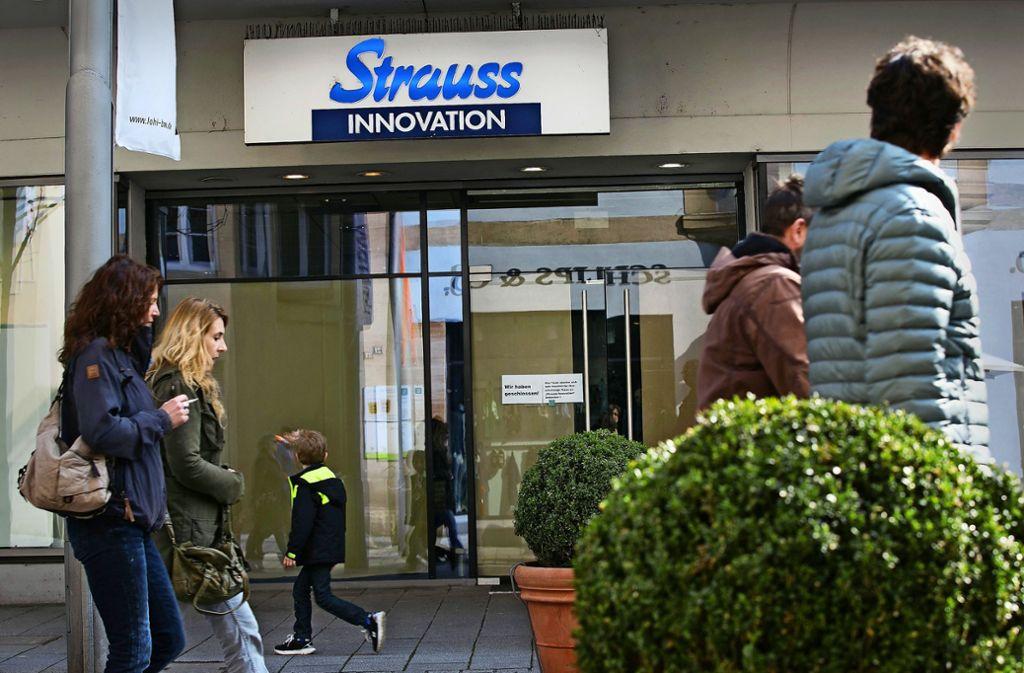 Vor zweieinhalb Jahren hat Strauss in der Bahnhofstraße aufgegeben. Foto: Ines Rudel/Archiv