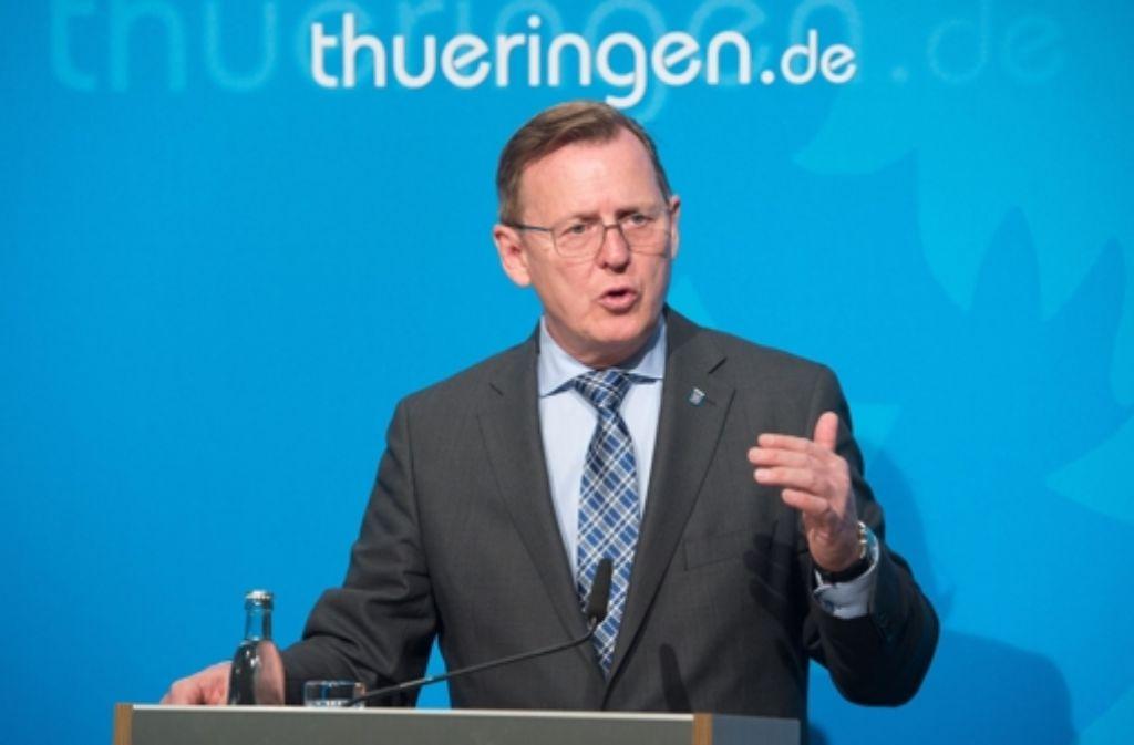 Der Ministerpräsident von Thüringen Bodo Ramelow ist bekennender Christ. Foto: dpa-Zentralbild