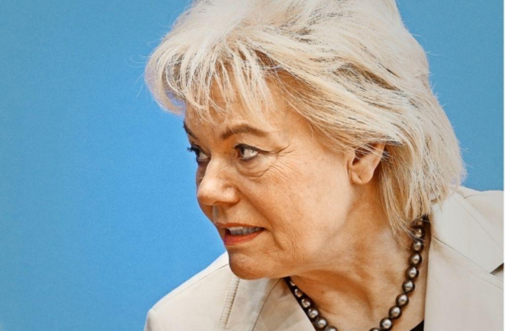 Die frühere Chefin des Vertriebenen-Bundes, Erika Steinbach (CDU), leitet die Arbeitsgruppe Menschenrechte der Unionsfraktion im Bundestag. Foto: dpa
