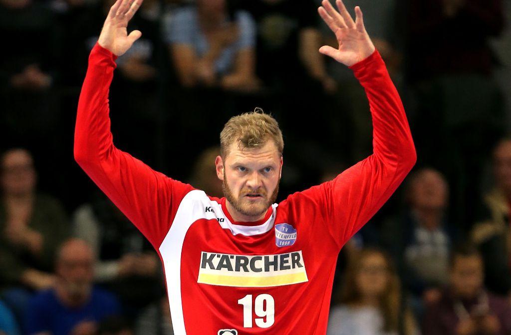 Der frühere Nationalspieler und Weltmeister Jogi Bitter vom TVB Stuttgart hat sich im Training verletzt. Foto: Pressefoto Baumann