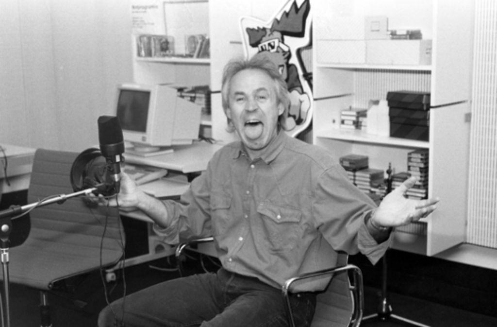 Große Klappe: Elmar Hörig Mitte der 80er Jahre bei SWF 3 Foto: SWR Baden-Baden