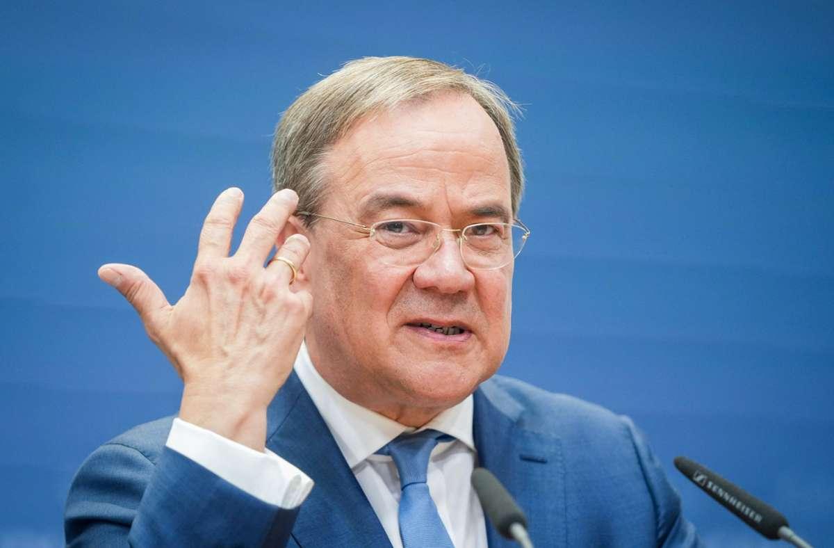 Armin Laschet hat am Montag ein Sofortprogramm vorgestellt für den Fall, dass er Bundeskanzler werden sollte. Foto: dpa/Kay Nietfeld