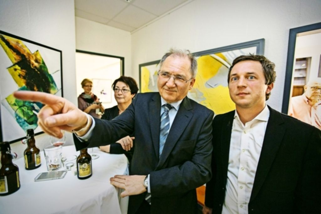 Geht es da nach Stuttgart? Peter Hofelich (links) und  Sascha Binder sind trotz ihres Wiedereinzugs nicht glücklich. Foto: Michael Steinert