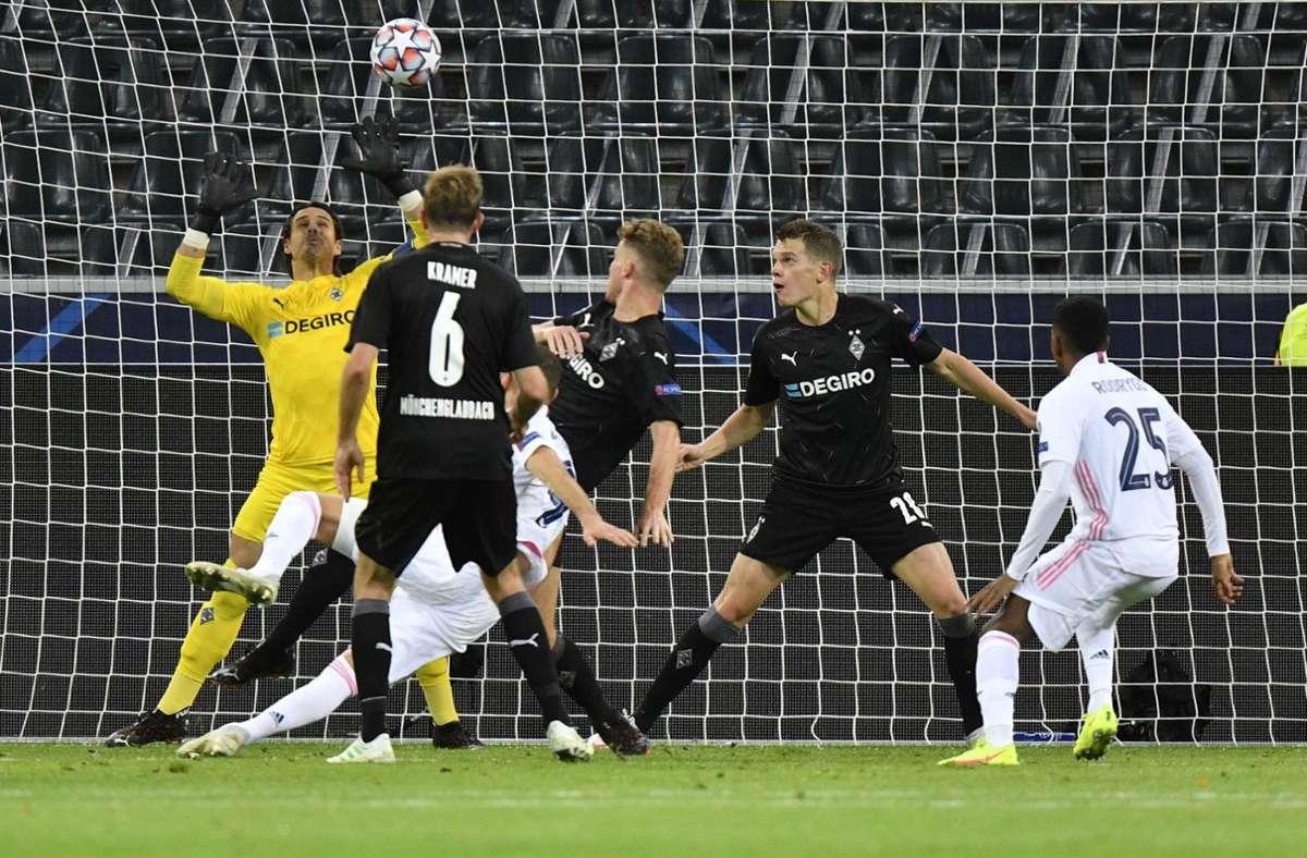 Gladbach gelang gegen Real Madrid fast sogar ein Sieg. Foto: AP/Martin Meissner