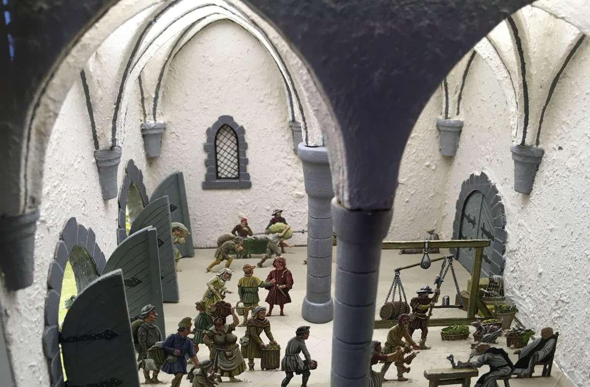 Die Dioramen des Böblinger Zinnfiguren-Künstlers Bernhard Kempin erzählen die Geschichte des Bauernkriegs. Foto: Stadt Böblingen/Stadt Böblingen