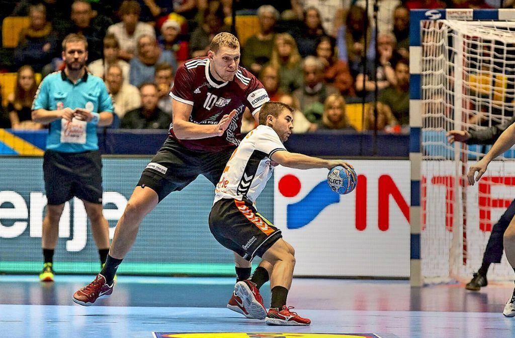 Ein ungleiches Duell: Lettlands Dainis Kristopans (li.) gegen Luc Steins aus den Niederlanden. Foto: imago//Theophile Laurent