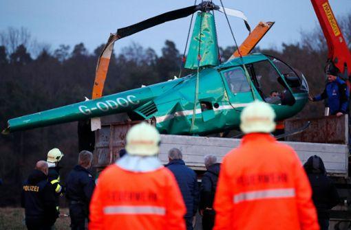 Drei Verletzte bei Hubschrauberabsturz
