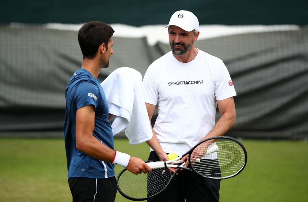 Novak Djokovic (links) setzt in Wimbledon auf Goran Ivanisevic. Foto: Getty Images