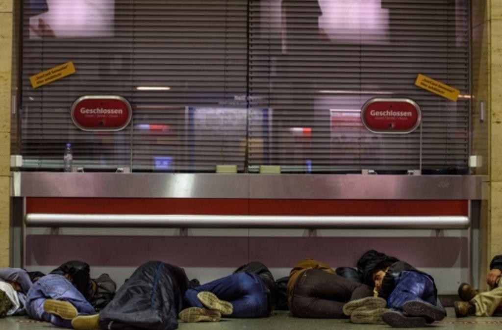 In München gibt es für Flüchtlinge keine adäquaten Schlafplätze mehr. Foto: dpa