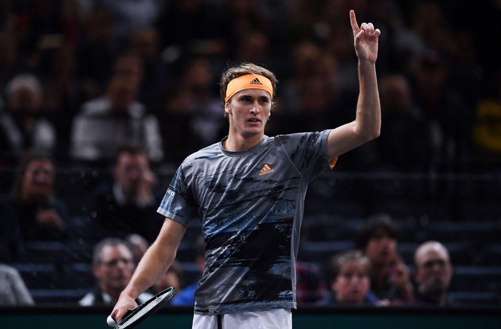 Zverev startet in Stuttgart seine Vorbereitung für Wimbledon. (Archivbild) Foto: AFP/CHRISTOPHE ARCHAMBAULT