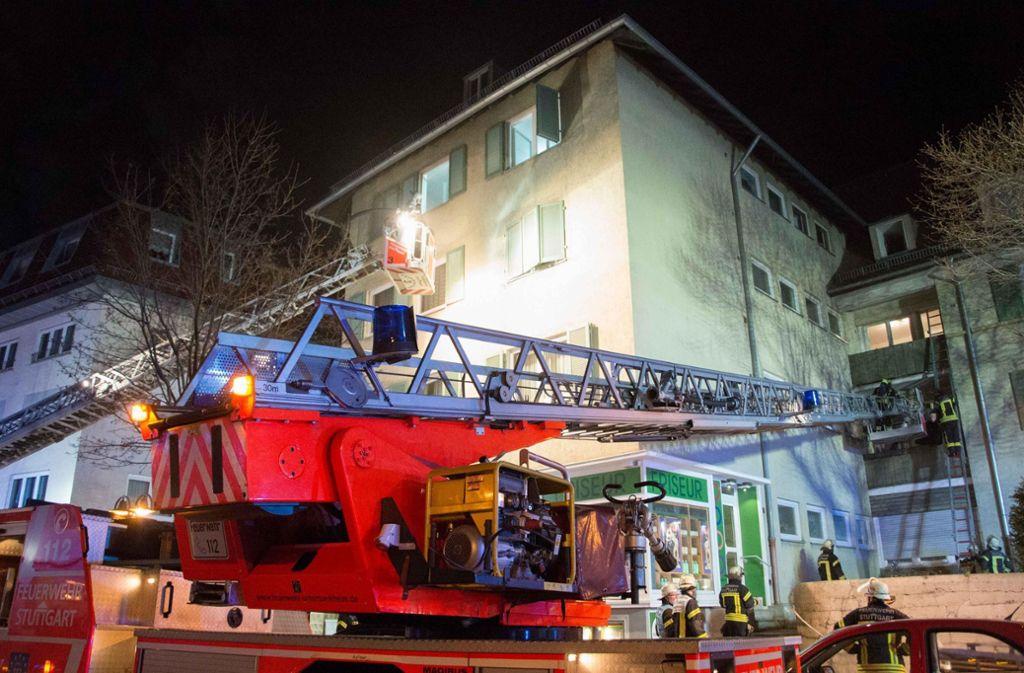 Die Feuerwhr war mit zwei Drehleitern angerückt und ... Foto: 7aktuell.de/ Gruber