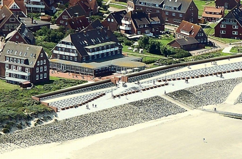 Die Häuser auf Baltrum sollen durch einen Betonwall geschützt werden. Foto: NLWKN