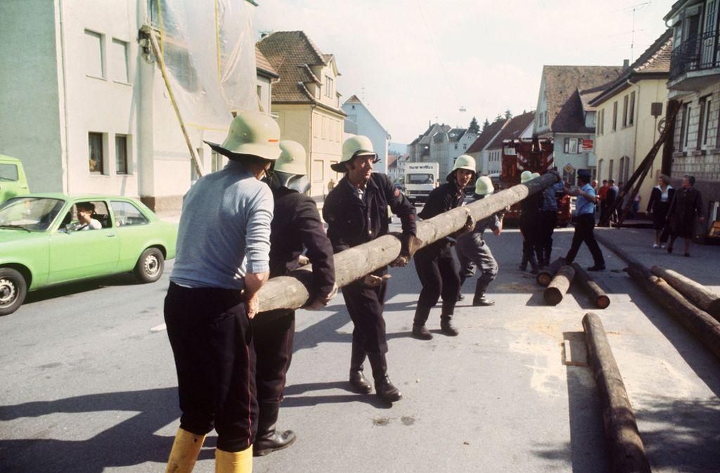 Nach dem Beben mussten in Albstadt  etliche Häuser abgestützt werden. Foto: dpa