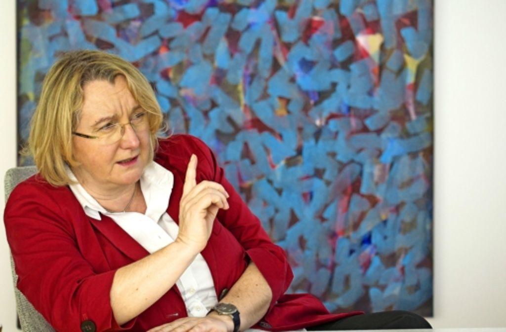 Streichen kommt nicht in Frage. Baden-Württembergs Wissenschaftsministerin Theresia Bauer (Grüne) sagt, auch an den Ausbildungsstätten für Lehrer herrsche drangvolle Enge. Foto: FACTUM-WEISE