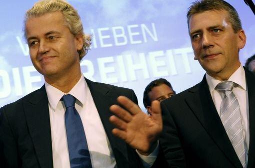 Geert Wilders mit Rene Stadtkewitz  Foto: dapd