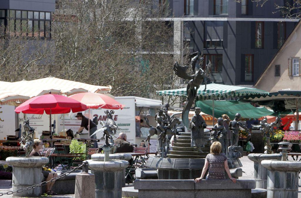 Auf dem Sindelfinger Marktplatz soll es beschaulich zugehen – ohne Rockmusik (Archivbild). Foto: FACTUM-WEISE