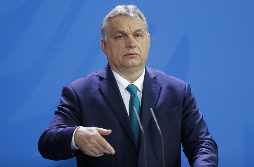 Victor Orban, Ungarns Regierungschef (Archivbild) Foto: AP/Markus Schreiber