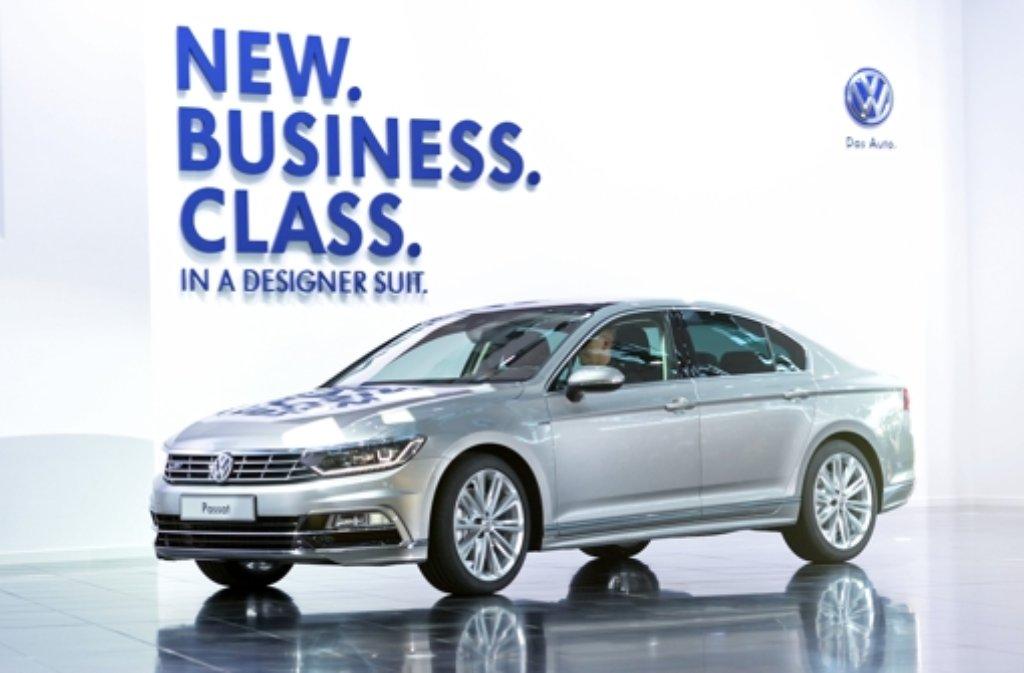 Der neue VW Passat wird am Donnerstag im Volkswagen Designzentrum in Potsdam vorgestellt. Foto: dpa-Zentralbild