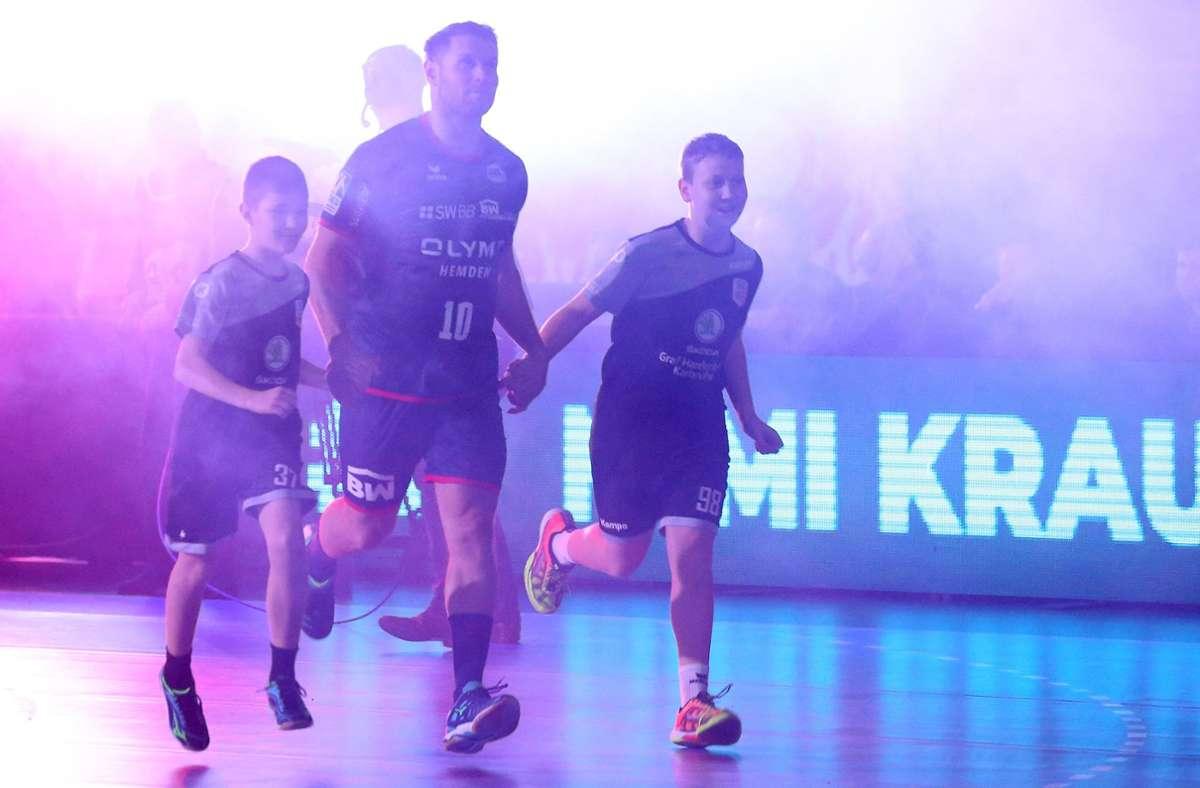 """Ein Herz für Kinder: Michael """"Mimi"""" Kraus möchte nach seiner aktiven Karriere den Handball-Nachwuchs fördern. Foto: Baumann"""