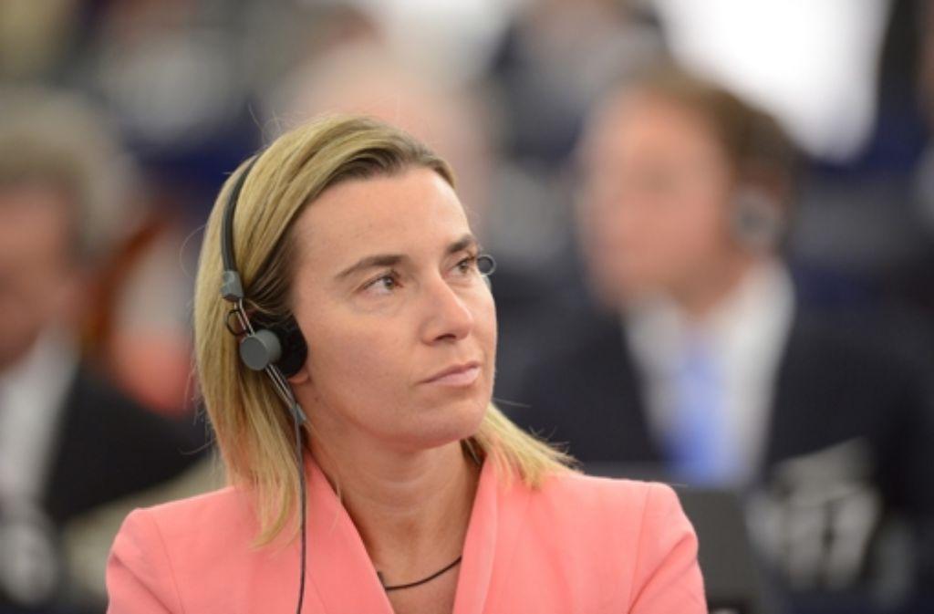 EU-Außenbeauftragte Federica Mogherini Foto: dpa