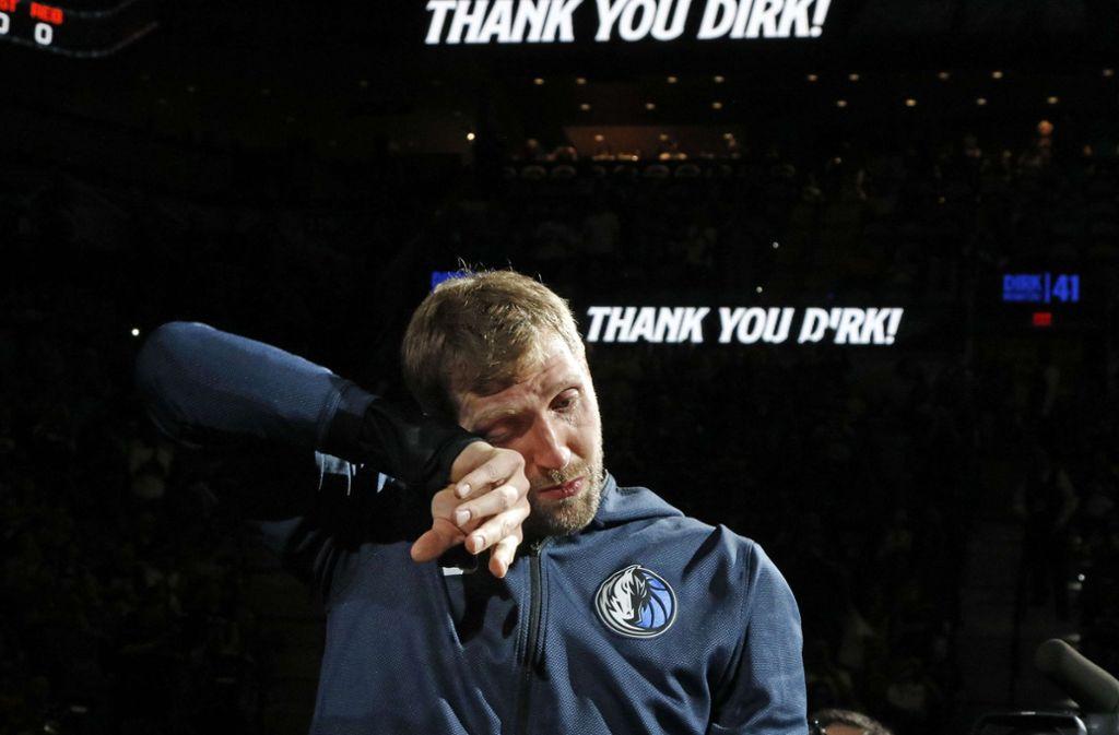 Dirk Nowitzki verabschiedet sich als Profi-Basketballer. Foto: GETTY IMAGES NORTH AMERICA