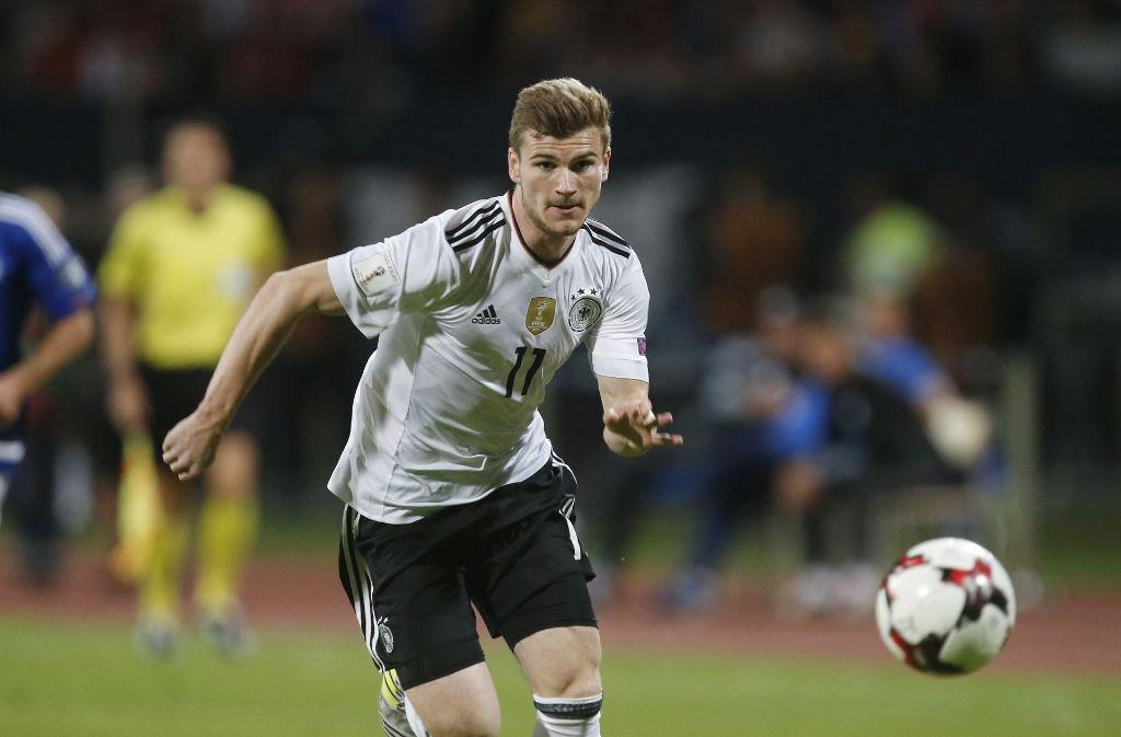 Beim Spiel Deutschland gegen San Marino wurde der Leipziger Angreifer Timo Werner bei seiner Einwechslung ausgepfiffen. Foto: Avanti