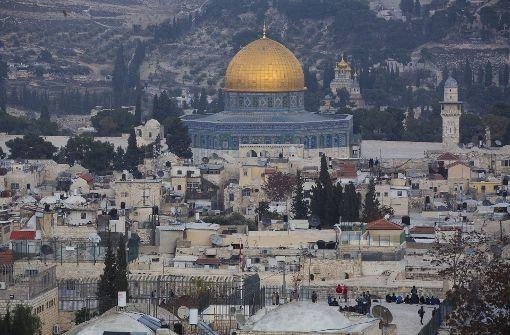 Widerstand gegen Anerkennung Jerusalems als Israels Hauptstadt