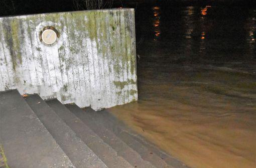 Hochwassergefahr am Neckar