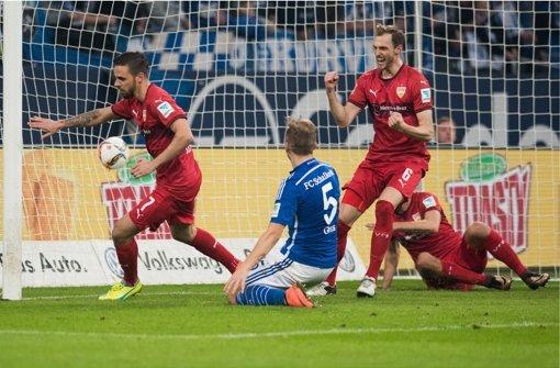 Martin Harnik erzielt das Ausgleichstor zum 1:1 (1:0). Foto: dpa